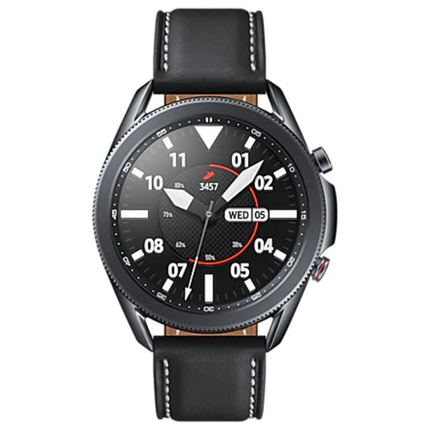Oferta de Relógio Smartwatch Samsung Galaxy Watch3 45mm AMOLED 8GB Bluetooth GPS - Preto por R$2757