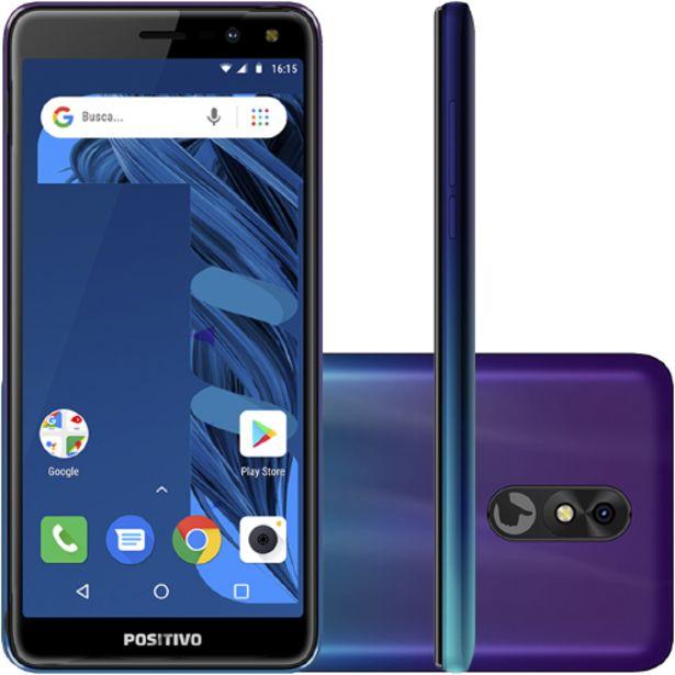 "Oferta de Smartphone Positivo Twist 3 Pro S533 5.7"" Quad Core 64GB 1GB Câmera 8MP - Aurora por R$697"