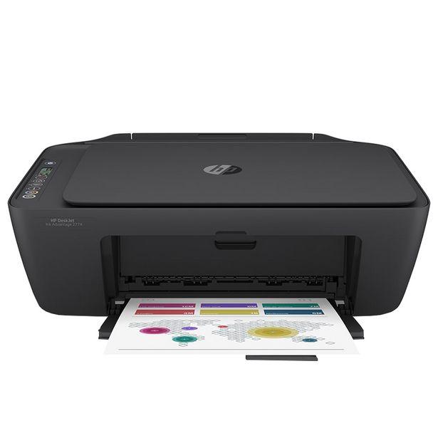 Oferta de Impressora Multifuncional Jato de Tinta HP Advantage 2774 Colorido - Preto por R$482
