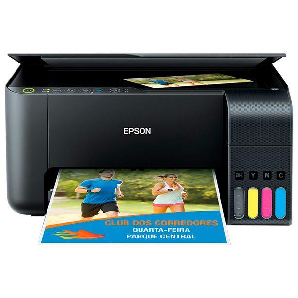 Oferta de Impressora Multifuncional Epson EcoTank L3150 Colorido WiFi - Preto por R$1462