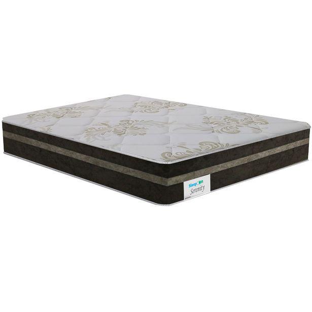 Oferta de Colchão Queen Size de Molas Ensacadas Sleep On Serenity 158x198 - Marrom por R$1272