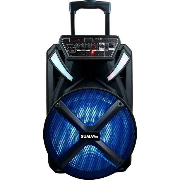 Oferta de Caixa de Som Amplificada Sumay X-Prime 300W Bluetooth com Microfone - Sem Cor por R$668