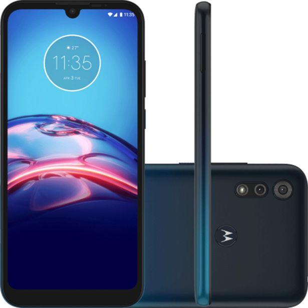 """Oferta de Smartphone Motorola Moto E6s 6.1"""" Octa Core 64G 4GB Câmera Dupla - Azul por R$1299"""