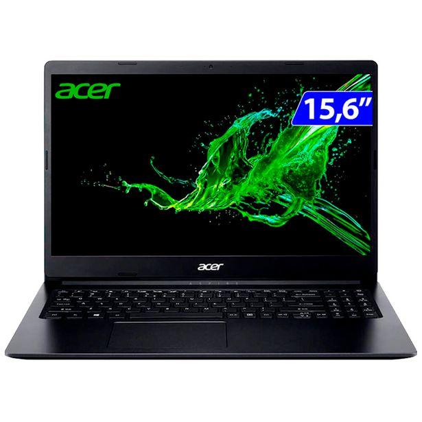 "Oferta de Notebook Acer Aspire 3 Ryzen 7 W10 8GB 256GB SSD 15.6"" A315-23-R3L9 - Preto por R$5400"