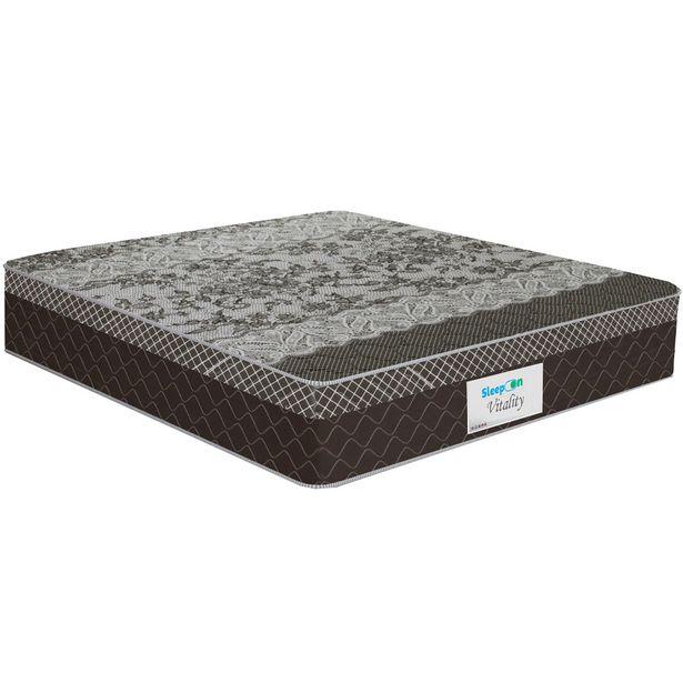 Oferta de Colchão Sleep On Molas Ensacadas Casal 138x188 Vitality - Marrom por R$731