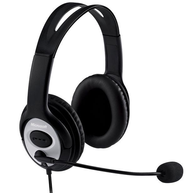 Oferta de Headset Microsoft LifeChat LX-3000 com Fio e Microfone USB 2.0 - Preto por R$265