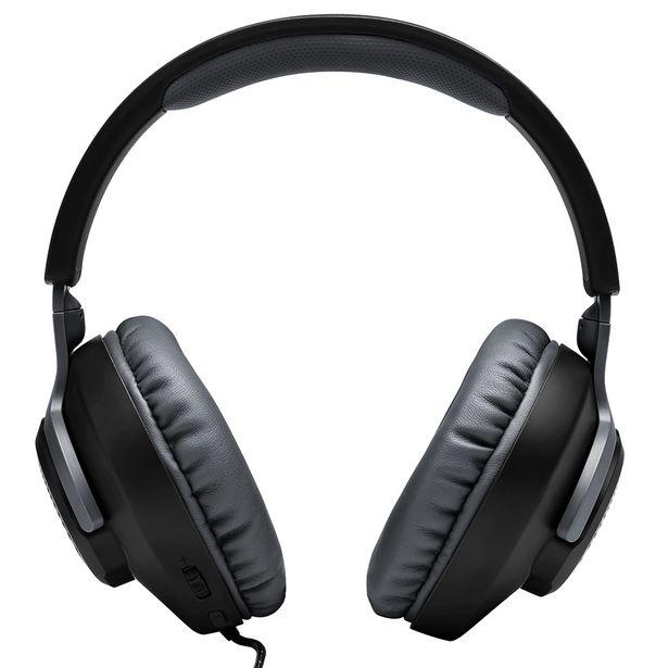 Oferta de Headset JBL Quantum 100 com Fio Microfone Removível - Preto por R$277