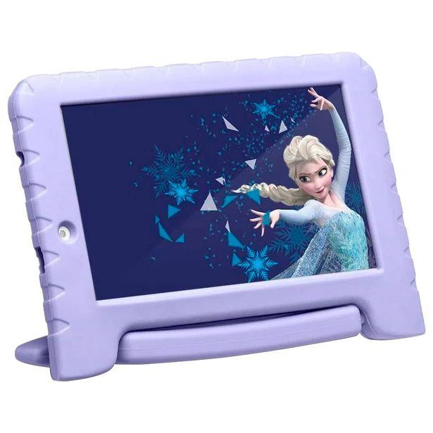 """Oferta de Tablet Multilaser Disney Frozen 7"""" 16GB 1GB Quad Core Android NB315 - Lilas por R$475"""