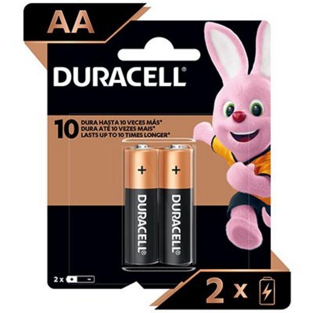 Oferta de Pilha Alcalina Pequena AA Duracell - BT 2 UN por R$10,71