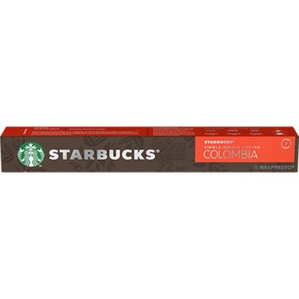 Oferta de Cápsula de café Starbucks p/Nespresso Colombia Starbucks CX 10 UN por R$27,8