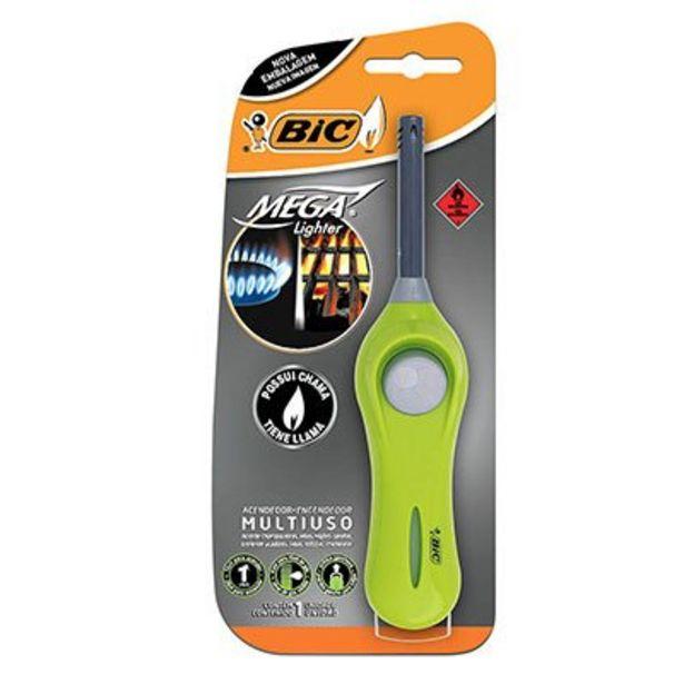 Oferta de Acendedor Mega Lighter BIC, Multiuso, Cores Sortidas, Fácil Manuseio, Blister, com 1 ... por R$19,2