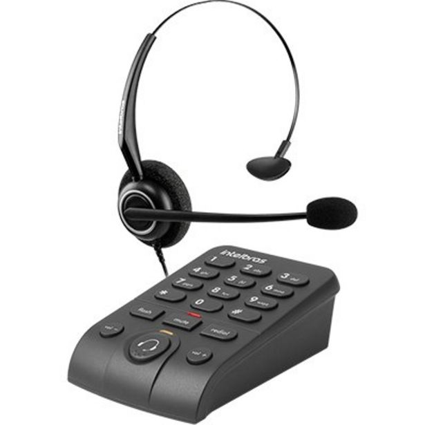 Oferta de Telefone c/headset HSB50 Intelbras CX 1 UN por R$143,3