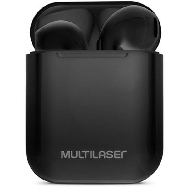 Oferta de Fone de ouvido tws airbud preto PH358 Multilaser CX 1 UN por R$159,9