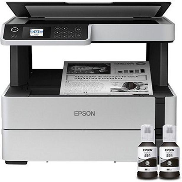 Oferta de Impressora Multifuncional Tanque de Tinta Ecotank M2170, Monocromática, Impressão Dup... por R$1889,1