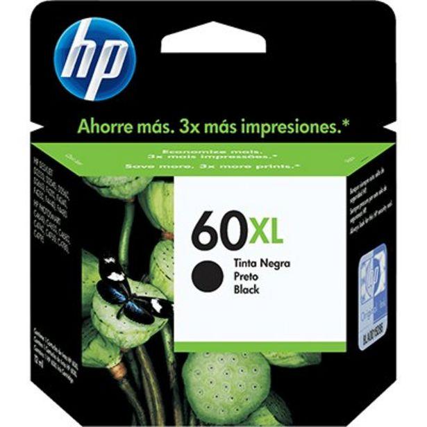 Oferta de Cartucho HP 60XL preto Original (CC641WB) Para HP Deskjet F4224, F4480, F4580, D1660,... por R$234,9