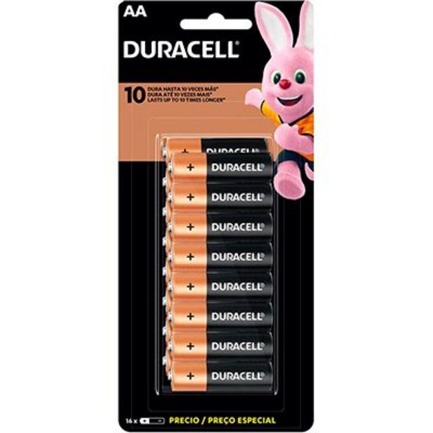 Oferta de Pilha Alcalina Pequena AA Duracell - BT 16 UN por R$59,9
