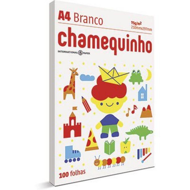 Oferta de Papel sulfite Chamequinho Branco A4 75g 210mmx297mm Ipaper PT 100 FL por R$4,2