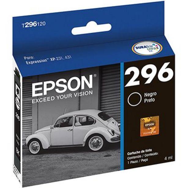 Oferta de Cartucho p/Expression preto T296120BR Epson CX 1 UN por R$44,9