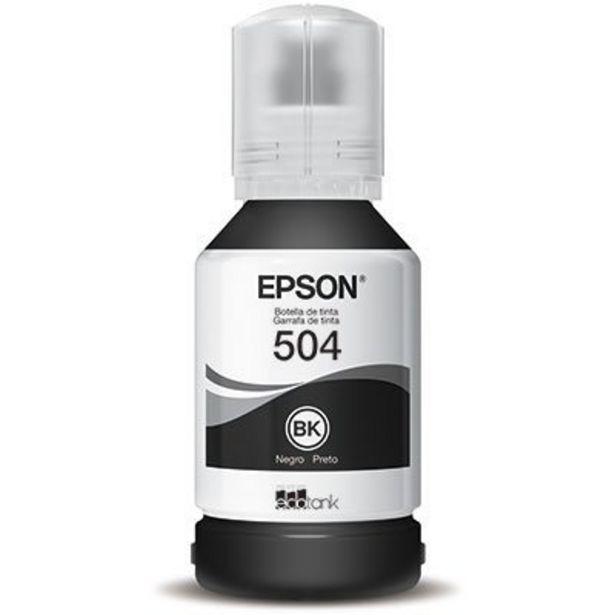 Oferta de Garrafa para Ecotank preto T504 - T504120AL - Epson CX 1 UN por R$62,91