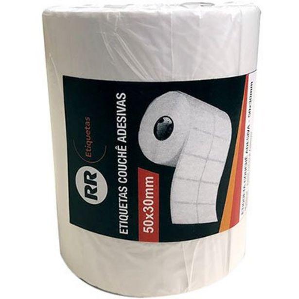 Oferta de Etiqueta couchê para impressora de barras 50x30mm Rr Etiqueta PT 1 UN por R$22,8
