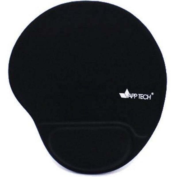 Oferta de Mouse pad c/ apoio de punho em gel preto App-tech PT 1 UN por R$74,9