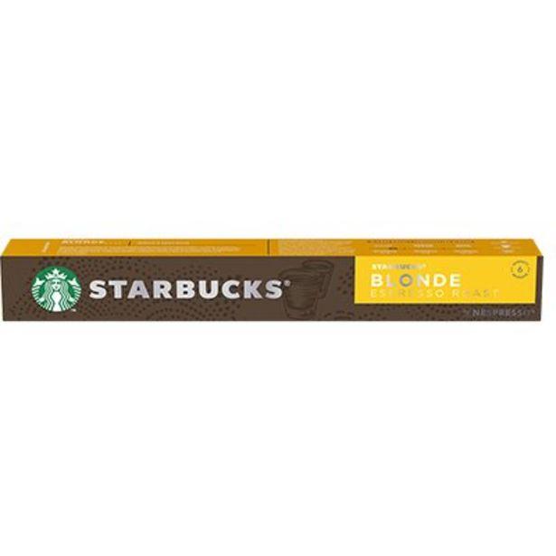 Oferta de Cápsula de café Starbucks p/Nespresso Blonde Starbucks CX 10 UN por R$27,8