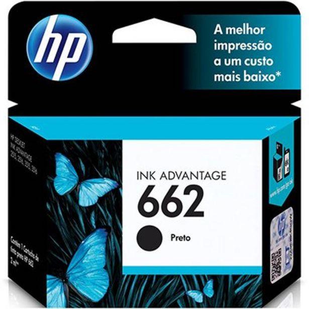 Oferta de Cartucho HP 662 preto Original (CZ103AB) Para HP DeskJet 2516, 3516, 3546, 2546, 1516... por R$54,9