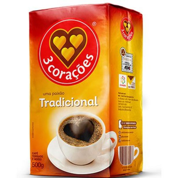 Oferta de Café torrado e moído 500g Tres Corações PT 1 UN por R$11,9