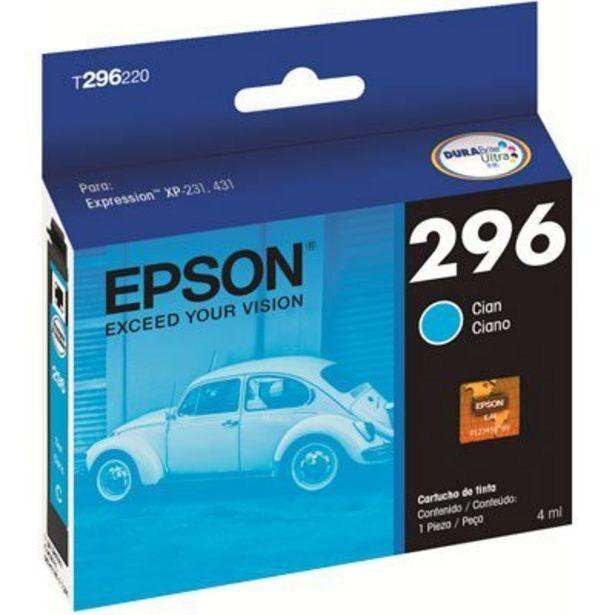 Oferta de Cartucho p/Expression ciano T296220BR Epson CX 1 UN por R$44,9