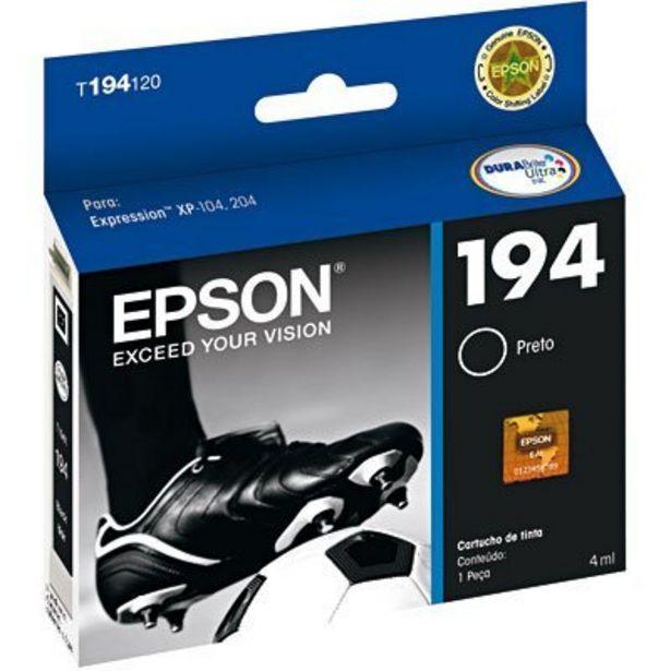 Oferta de Cartucho p/stylus preto T194120BR Epson CX 1 UN por R$44,9