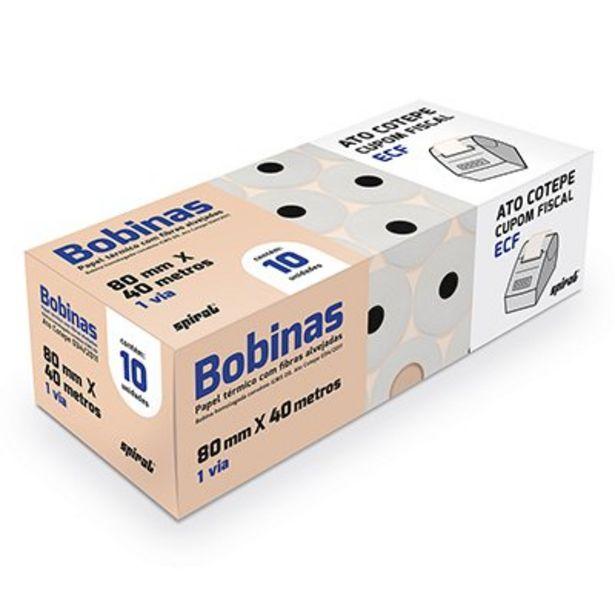 Oferta de Bobina térmica para ECF 80mmx40m AtoCotep 65845 Spiral CX 10 UN por R$70,5