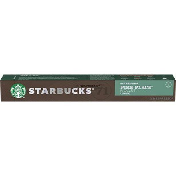 Oferta de Cápsula de café Starbucks p/Nespresso Pike Place Starbucks CX 10 UN por R$27,8