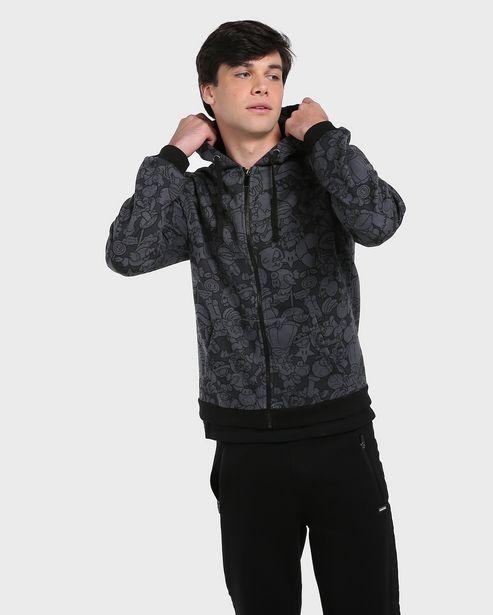 Oferta de Blusão Aberto Moletom Mario Bros - Preto por R$59,9