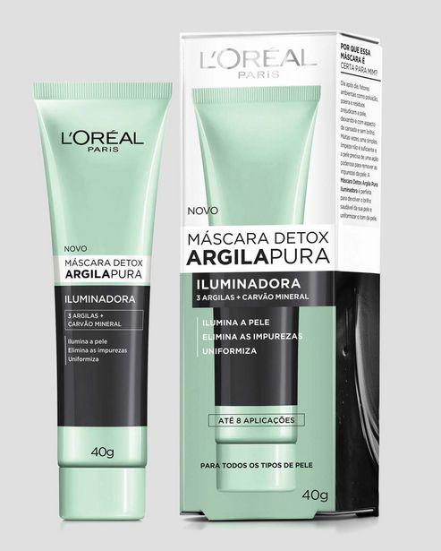 Oferta de Máscara Facial Detox Argila Iluminadora L'Oréal Paris 40g por R$19,9