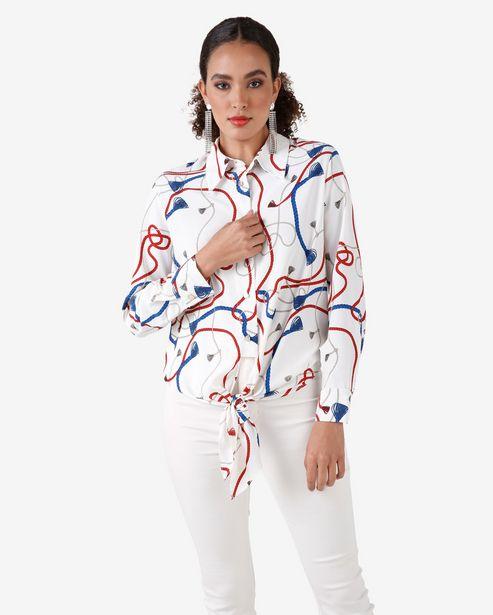 Oferta de Camisa Amarração - Branco por R$39,9