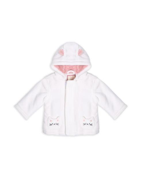 Oferta de Jaqueta Bebê Pelúcia - Branco por R$99,9