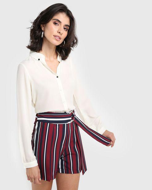 Oferta de Camisa Chiffon Básica - Off White por R$49,9