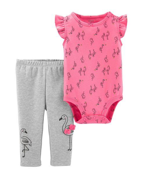 Oferta de Conjunto 2 Peças Flamingo Carter´s - Rosa por R$65,9