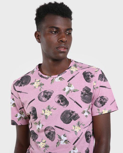 Oferta de Camiseta Caveira Floral por R$29,9