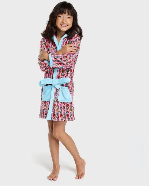 Oferta de Roupão Infantil Microfibra Abacaxi - Rosa Claro por R$49,9