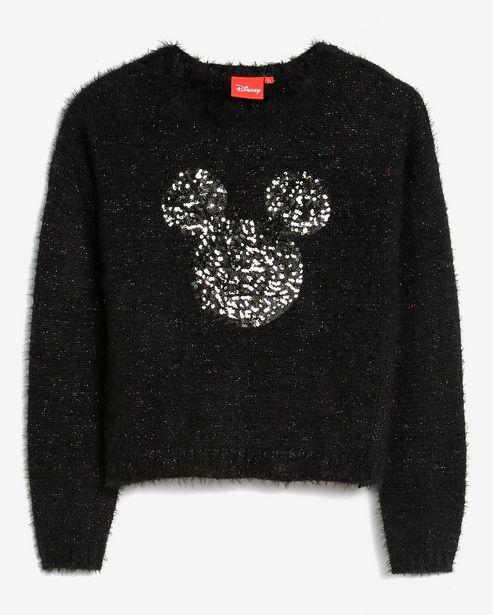 Oferta de Suéter Tricot Felpudo Mickey - Preto por R$99,9