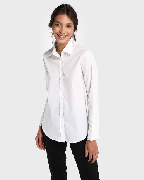 Oferta de Camisa Algodão Lisa - Branco por R$39,9