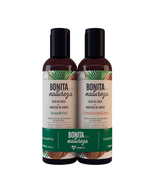 Oferta de Kit Shampoo Bonita por Natureza Óleo de Coco Aptil 240ml + Condicionador 240ml por R$18,9