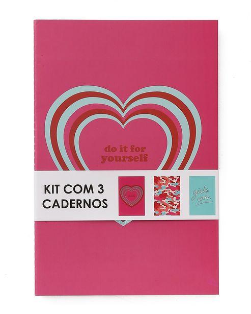 Oferta de Kit Caderno 3 peças Girls por R$9,9