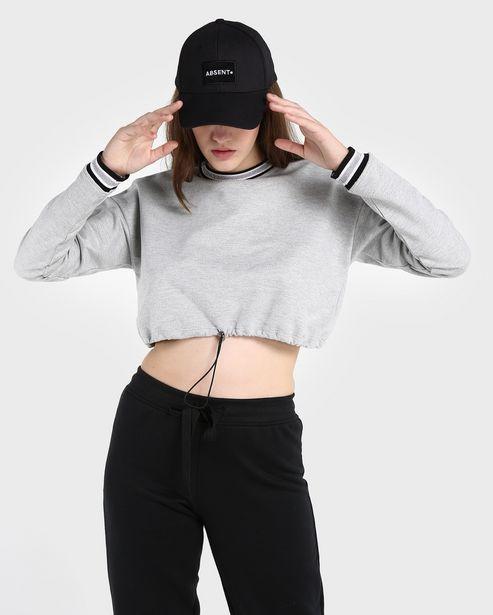 Oferta de Blusa Moletinho Cropped Lisa por R$59,9