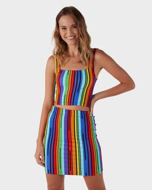 Oferta de Top Cropped Listras Color - Multicor por R$29,9