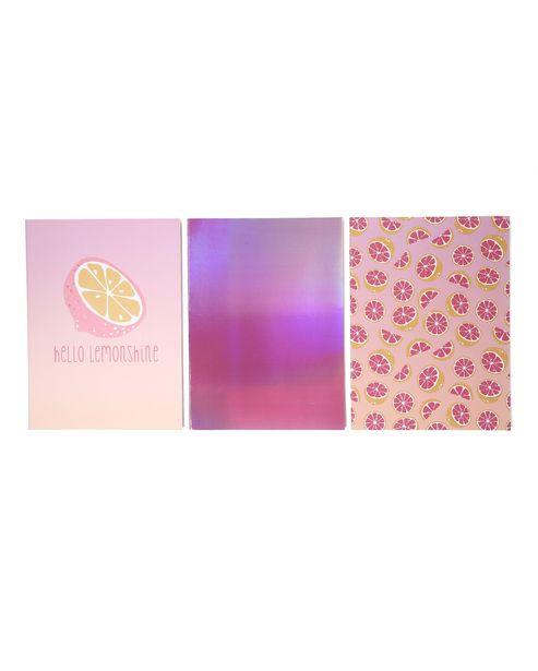 Oferta de Kit Caderno 3 Peças Shine por R$9,9