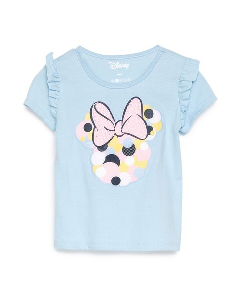 Oferta de Camiseta Manga Curta Minnie - Azul Claro por R$19,9