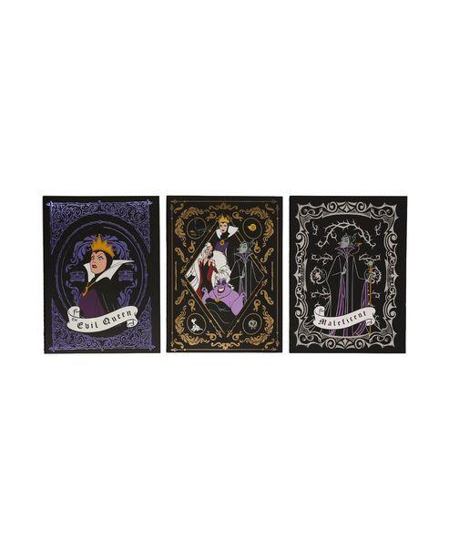 Oferta de Kit Caderno 3 Peças Vilãs da Disney por R$9,9