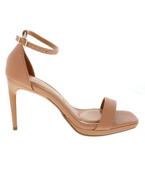 Oferta de Sandália Salto Fino Ankle Strap Vizanno - Nude por R$79,9